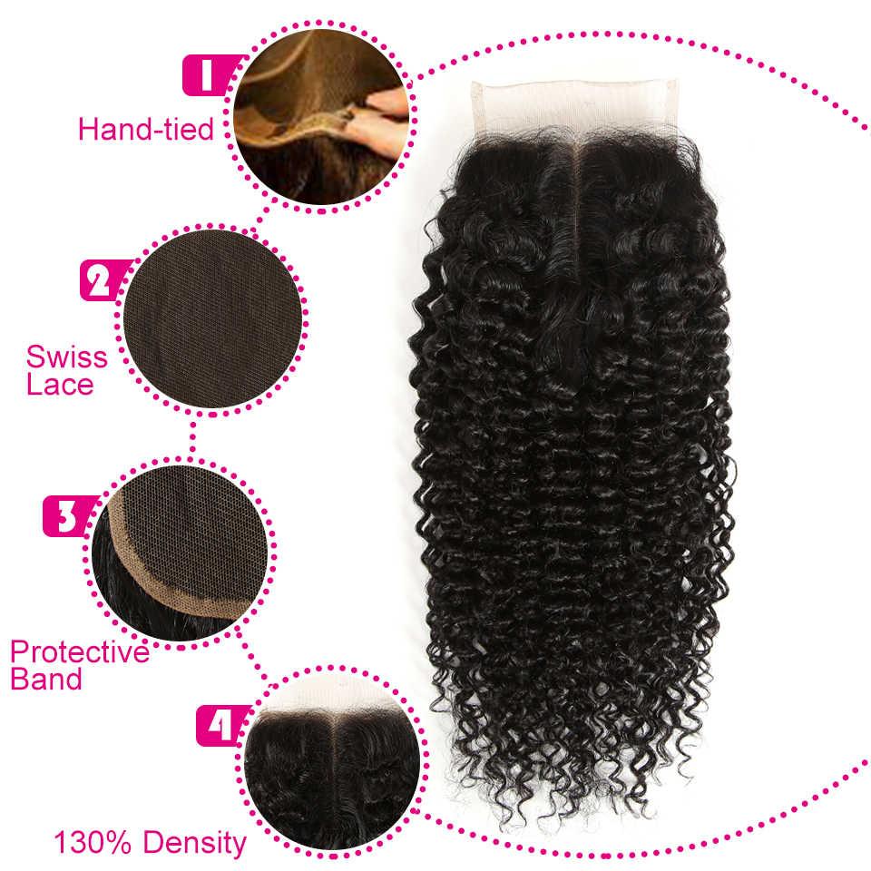 Натуральные волнистые волосы Remy, 3 пучка, перуанские волосы с закрытыми волосами, 8-28 дюймов