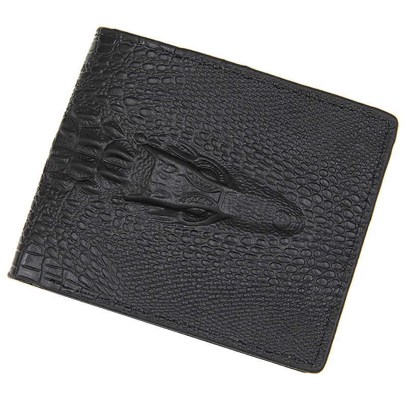 2018 Men Alligator Wallet Leather Men Purse Bifold Leather Wallet Card Holder Portfolio Short Clutch Coin Pocket Wallet