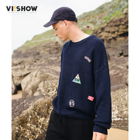 VIISHOW Men Sweaters And Pullovers Casual Knitted Sweater Men Round Neck Wool Sweater Men Christmas Sweater