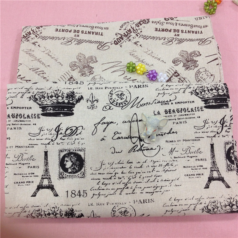 Retro Printed London Cotton Linen Blend Fabric DIY sewing upholstery linen fabric for curtain tablecloth home decor material