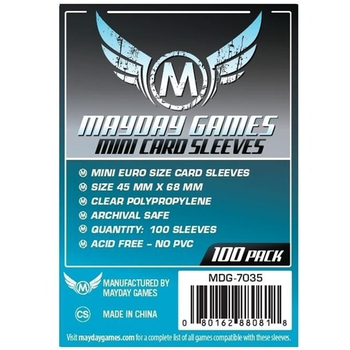 5 packs/lot MAYDAY Card Sleeve 7035 for 45*68mm cards protector clear pack case Board Games Sleeve mayday shenyang