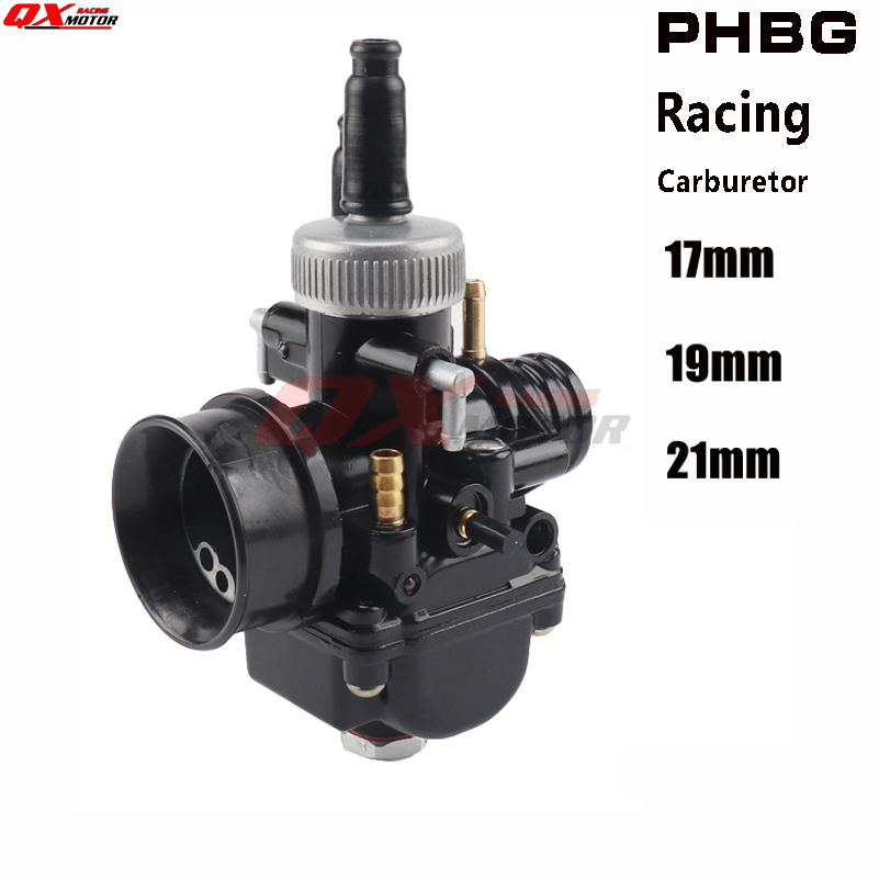 New Motorcycle 17 19 21mm Racing Carburetor For  PHBG DS Carburetor Fit 50cc-100cc 2 Stroke Scooter Moped Free Shipping