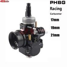 Nieuwe Motorfiets 17 19 21mm Racing Carburateur Voor PHBG DS Carburateur Fit 50cc 100cc 2 takt Scooter Bromfiets gratis verzending