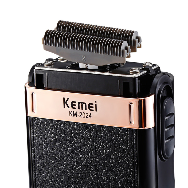 Kemei Rechargeable Beard Shaver For Men Twin Blade Safe Electric Sharp Razor Shaving Barber Trimmer Facial Styling Machine