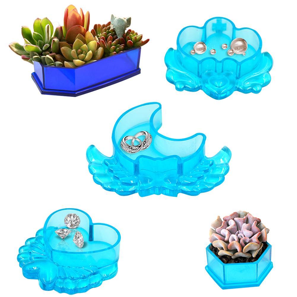 Moule de Pot de fleurs avec couvercle bricolage | Offre spéciale, joli moule de Pot de fleurs, boîte de rangement faite à la main, Mini moule en forme de cercueil en Silicone, livraison directe