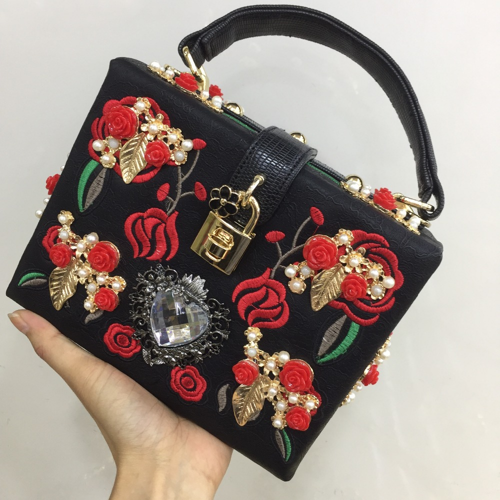 Fashion Prom Evening Bag Diamond Flower Clutch Hollow Relief Acrylic Luxury Handbag Banquet Party Purse Women S Shoulder In Top Handle Bags From