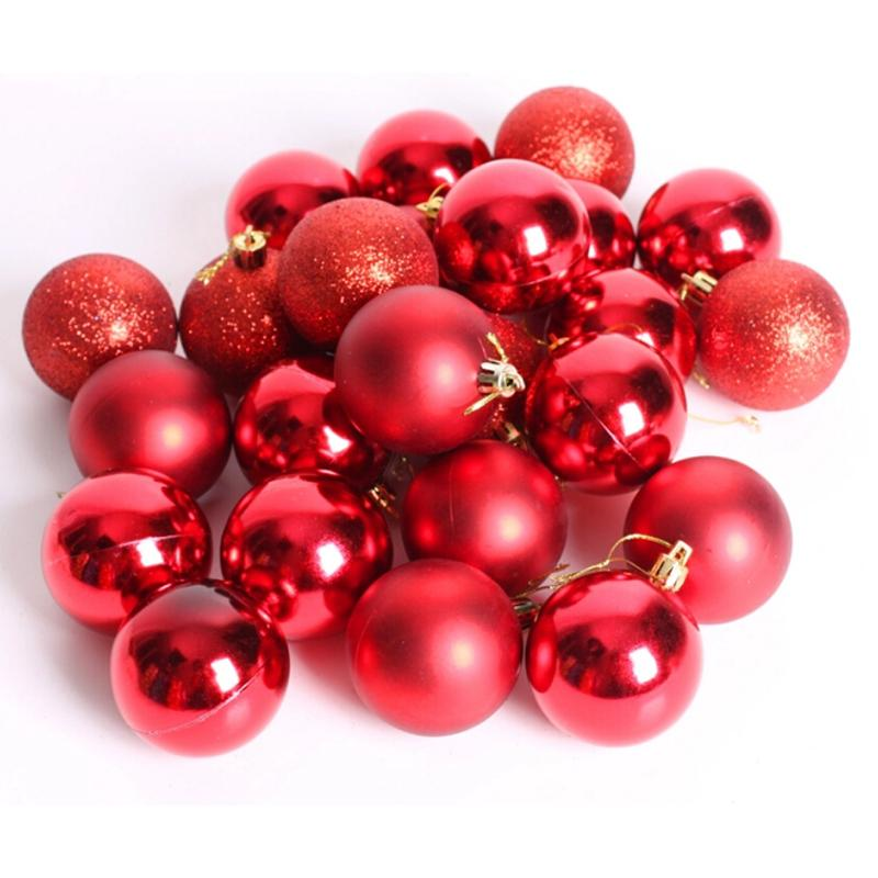 24pcs New Christmas Tree Xmas Balls Decorations Baubles Party Wedding Ornament 4cm 8 Colors Wholesale In Ball Ornaments From Home Garden On Aliexpress Com