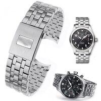 Высококлассная 316L нержавеющая сталь часы ремешок для IWC IW377704/01 часы Топ Роскошная модификация Mark часы серии аксессуары
