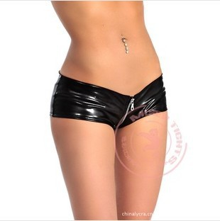 431ad8b68 Hipster Sexy Faux Leather Shorts Zipper Crotch Shorts Women Club Party Shorts  Female Bottoms Clothes