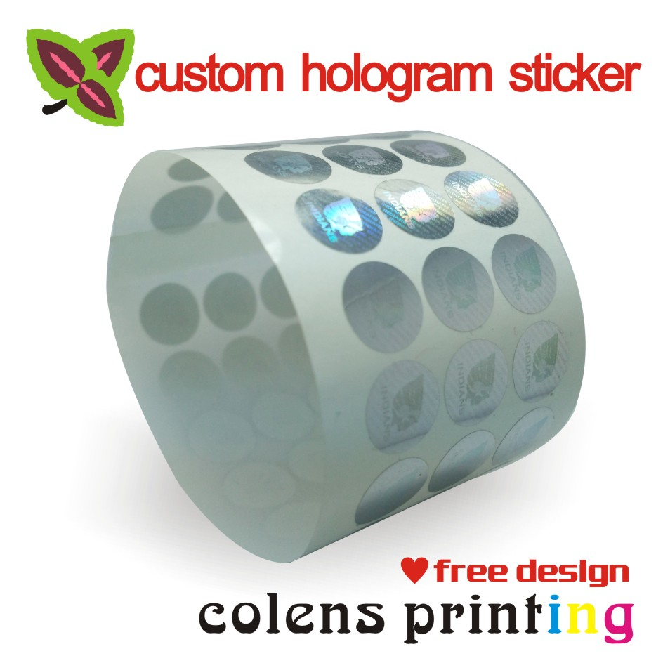 custom hologram stickers label printing 3d PET silver waterproof laser fragile label children diary stationery sticker