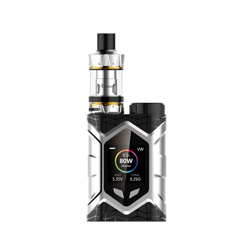 Vaptio E Cigarette Vape Wall Crawler THRONE TANK 80W leak proof TCR Vapor Starter Kit 1.3inch TFT Screen Resistance 0.05-2ohm