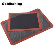 Goldbaking Премиум антипригарный силиконовый коврик для выпечки для хлебопекарной печи перфорированный сетчатый коврик полный размер лист для ...