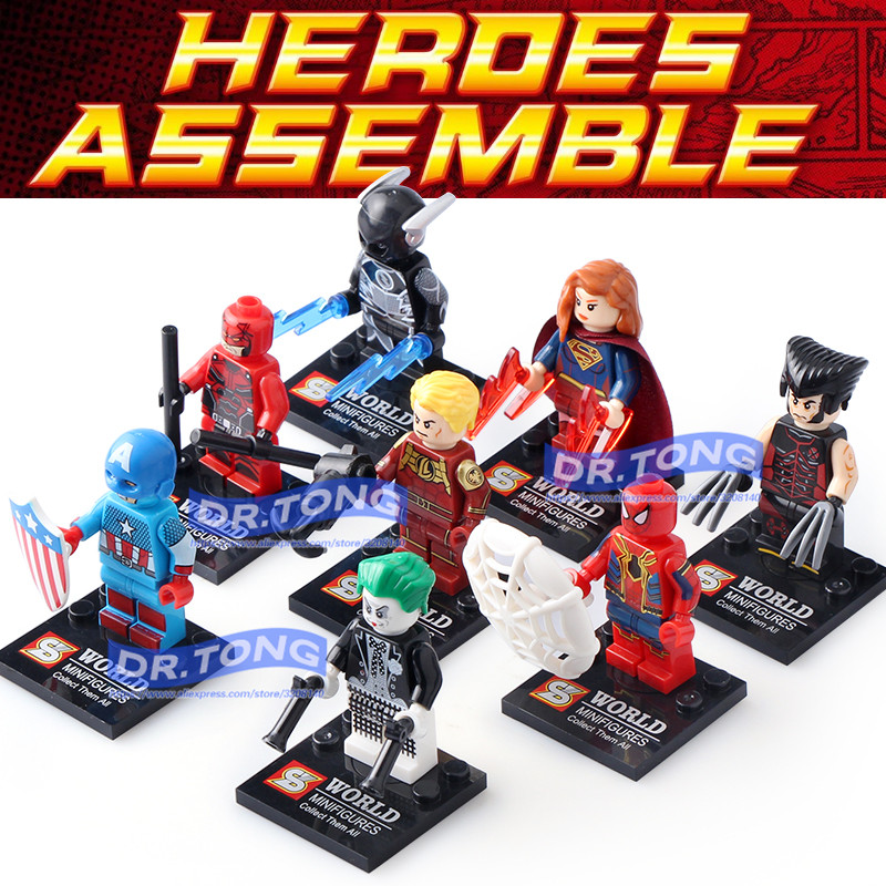 DR.TONG 80pcs/lot SY678 Super Heroes Assemble Spiderman Captain America Building Blocks Collection Educational Gift Toys singlesale captain america 3 with car civil war marvel super heroes the avengers minifig assemble building blocks kids toys