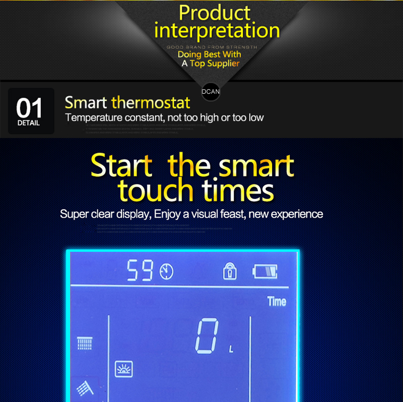 Bathroom 3 Ways Shower Sets Intelligent LCD Digital Concealed 20 SPA Mist Thermostatic LED Smart Shower Set Touch Panel Mixer (21)