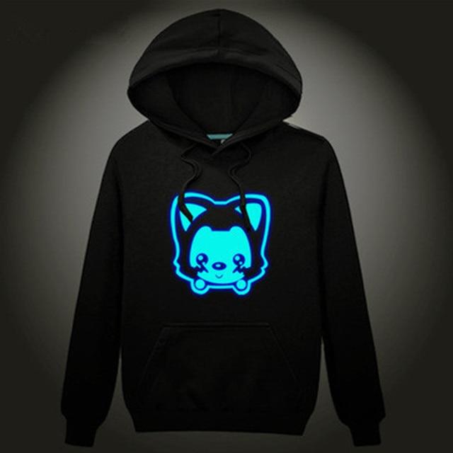2016 outono fleece meninos esporte hoodies hip hop neon imprimir party club noite luz do punk camisola crianças roupas crianças roupas