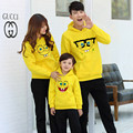Spring Autumn Family Matching Clothes Cotton Spongebob Hoodies Father Mother And Daughter Clothes Big size Family Look