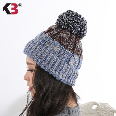 Women\'s Winter Beanie Warm Fleece Lining Thick Slouchy Cable Knit Skull Hat Ski Cap (3)