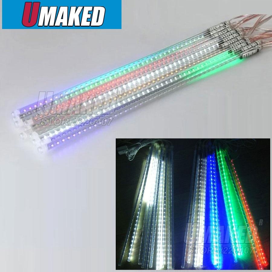 10 tubes/set 50 cm SMD5050 220 V 72 LED s/LED tube chute de neige, LED lumière de noël, tube de pluie étanche, tube de météore LED