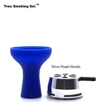 Blue Bowl Shisha Kaloud Hookah Charcoal Chicha Narguile Nargile Smoking Pipe Accessories Cachimba Christmas Gift TWAN0356