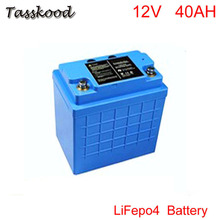 цена на  Free shipping Solar energy, solar panel gel battery 12v 40ah batteries in USA market 12V lifepo4 Electric Bicycle Battery