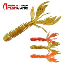 10pcs/lot Double Colors Screw Leaves Tail Soft Worm 80mm 2.3g Fishing Lure Silicon Artificial Bait Maggot Lure Jig Fishing