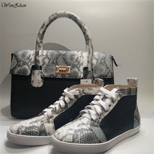 Shoes Sneakers Women WENZHAN Handbag Snake with Match Good-Quality Big-Bag A93-19 36-44