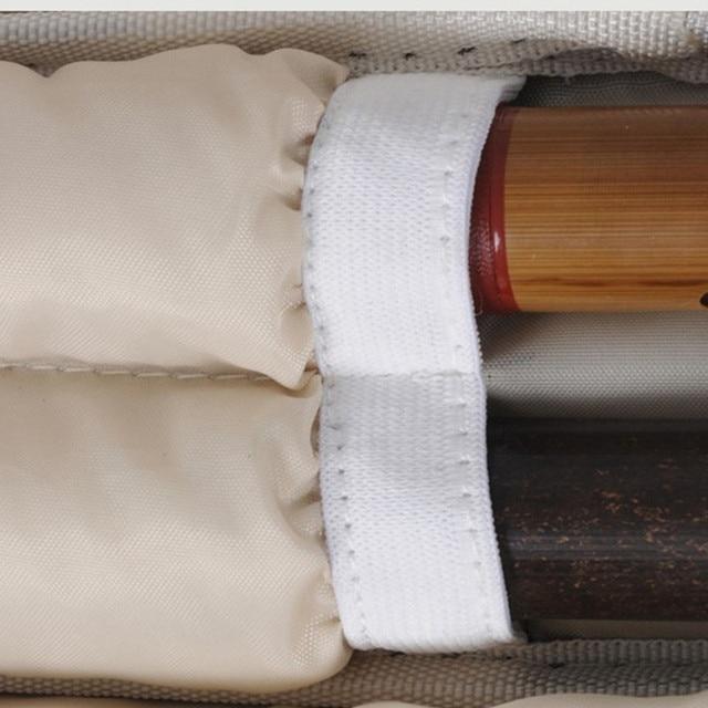 75 cm nouveau gros professionnel portable durable peut contenir 4 pc bambou flûte sac étui souple housse rembourrée boîte sac à dos épaule