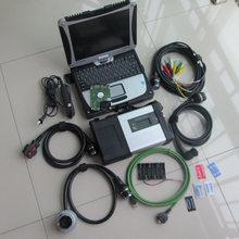 Super Star MB C5 SD Conectar com laptop cf-19 Toughbook diagnóstico PC com mb estrela c5 novo software 2018.09 v 500 gb hdd para sd c5