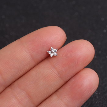 Feelgood Cz Moon Star Flower Tiny Cartilage Earring Small Cartilage Stud Ear Helix Piercing Jewelry 3