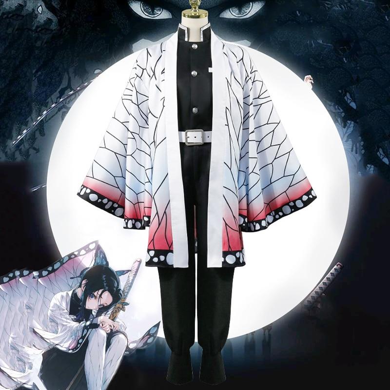 Anime Blade Of Demon Cosplay Costumes Kochou Shinobu Cosplay Costume Halloween Carnival Party Kimetsu No Yaiba Cosplay Costume