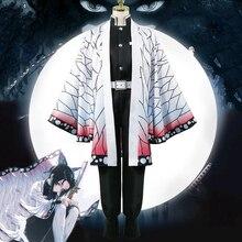 Anime bıçağı iblis Cosplay kostümleri Kochou Shinobu Cosplay kostüm cadılar bayramı karnaval parti Kimetsu hiçbir Yaiba Cosplay kostüm
