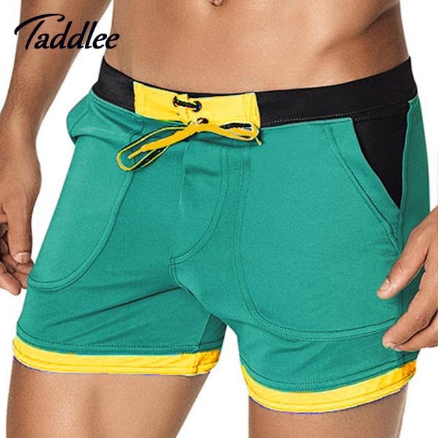 f7759820153cd Taddlee Brand Man Men's Swimwear Swim Beach Board shorts swim trunks  Swimsuits Bathing Suits Men Swimming Boxer Surf Wear Gay