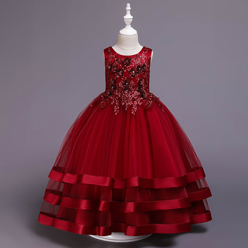 9294c9b06 12yrs nuevo bebé arco grande vestido de princesa Tutu para niña elegante  flor fiesta de ...