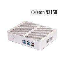 Цена завода N3150 Celeron мини-пк windows 7 TV BOX Windows 10 неттоп PC Металлический корпус с Интерфейсом Windows 8 HTPC 4 К HD Мини-Компьютер