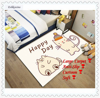 Free Shipping Happy Day Cartoon Cute Carpet Home Area Rug Floor Mat Living Room Bedroom Tapete Para Sala Alfombra Dormitorio