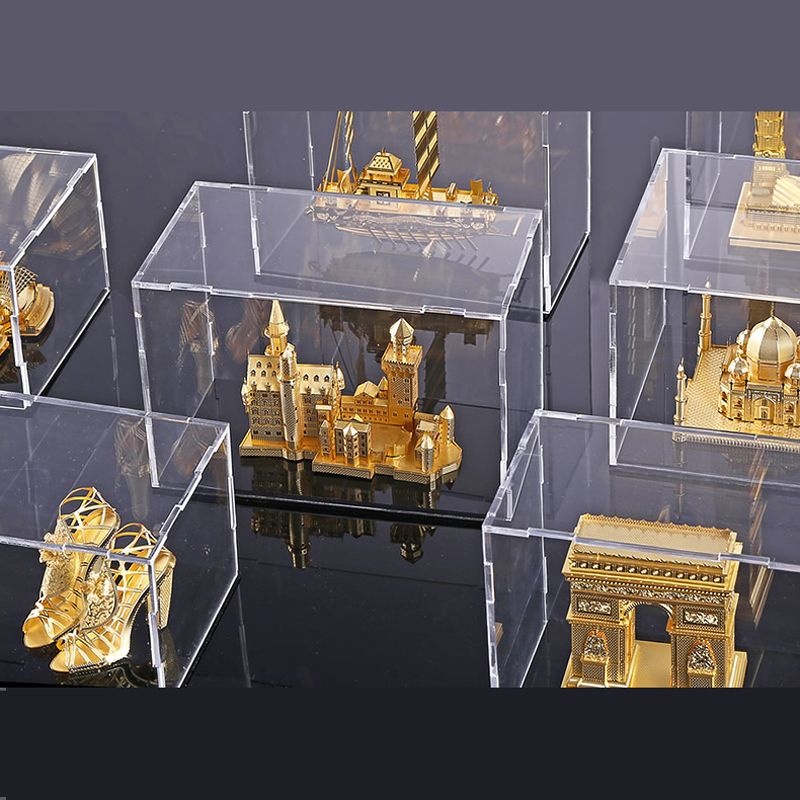 Transparent Acrylic Display Box For 3d Metal Jigsaw Puzzle DIY Laser Cut Assemble Jigsaw Toys (only Box)