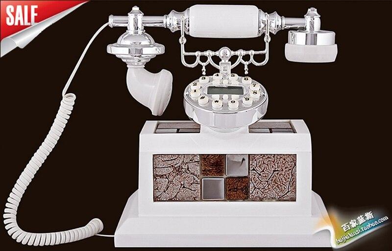 Квадратным Античный Телефон стационарный телефон Европейский высокой моды ретро деревянный телефон повторного набора поворотный