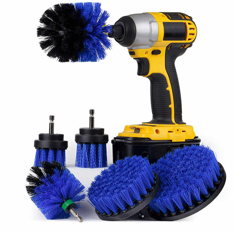 6Pcs Grout Power Scrubber Brush Drill Brush Clean for Bathroom Surfaces Tub Shower Tile Grout Cordless Power Scrub Cleaning Kit