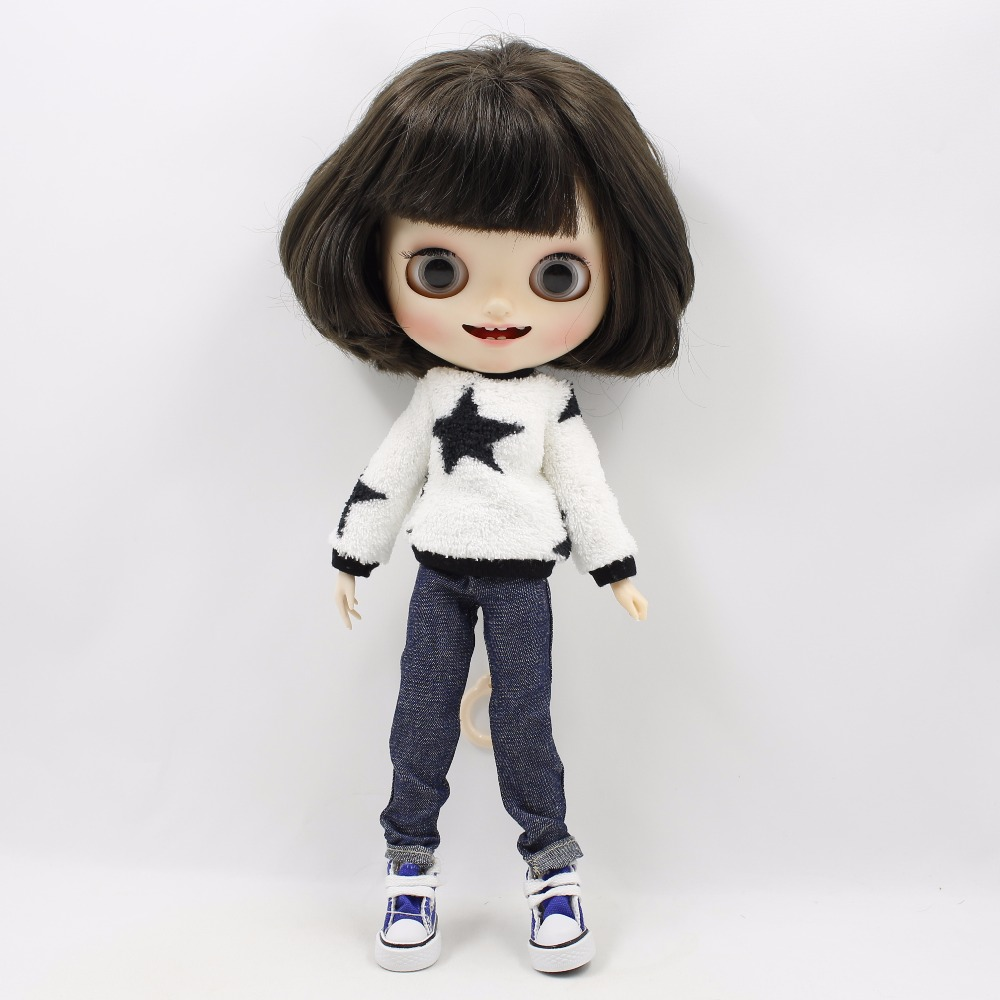 Neo Blythe Doll Plush Clothes Jeans Suit 3