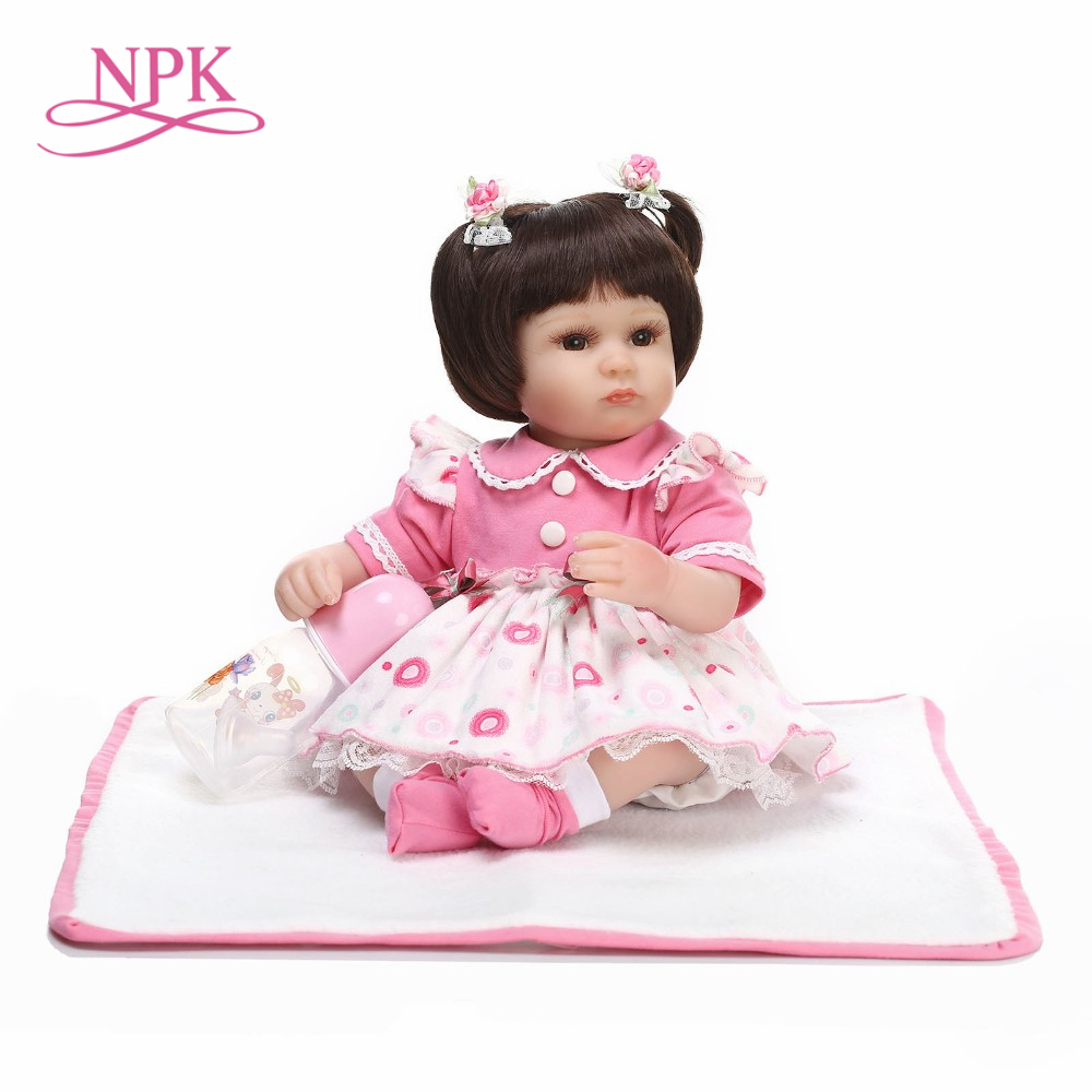 NPK 43cm lifelike reborn baby dolls wholesale soft real touch new born doll fashion frozen girl Christmas gift bonecas reborn