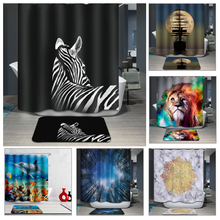 Bathroom Products 180*180CM 3D Shower Curtains Animal Printed Waterproof Polyester Bathroom Curtains Home Bath Screens