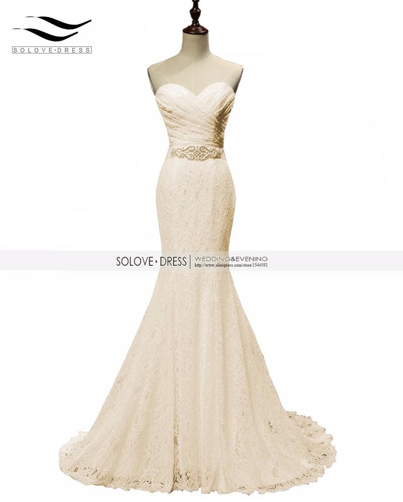 Solovedress Elegante in rilievo Sweetheart Champagne Mermaid Abito da - Abito per occasioni speciali