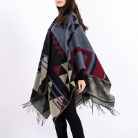 Hot Brand Design Bohemian Tassel Scarf Pashmina Women'S Winter Warm Scarves Shawls Female Longer Thicken Wild Cape Ponch