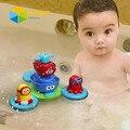 En Stock HotSale Fuente Flotante de Baño Del Bebé de Juguete para Niños Eléctrico Apilador de Pulverización de Agua de Juguete Bañera Baño Piscina