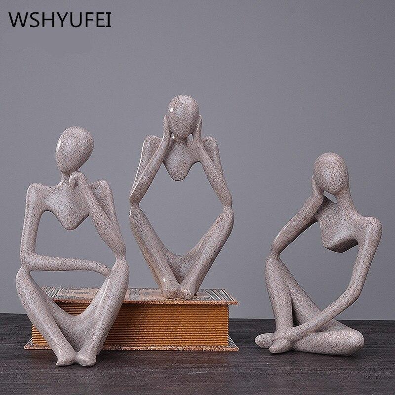 Modern people creative crafts, sculpture, beauty, character ornament, decoration, creative living room statue, figurine, figure