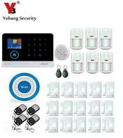 Yobang Security Wireless SOS Panic Button Fire Smoke Sensor Alarm Kits With 3G GPRS Alarm Panel Control WIFI SMS Security Alarm