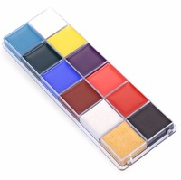 12 Colors Flash Tattoo Face Body Paint Oil Painting Art Halloween Party Fancy Dress Beauty Makeup