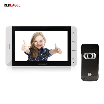 REDEAGLE 7 inch video door phone intercom system 940nm IR Night Vision doorphone Doorbell Camera 110 Degree Wide Angle redeagle 7 inch video door phone intercom system 940nm ir night vision doorphone doorbell camera 110 degree wide angle