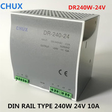 купить 240W 24V 10A Switching Power Supply Din rail type DC AC DR240W Single Output Switch Transformer LED Driver SMPS дешево