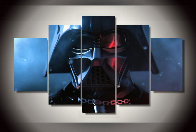 Star wars darth vader Print Canvas 5 pieces/set